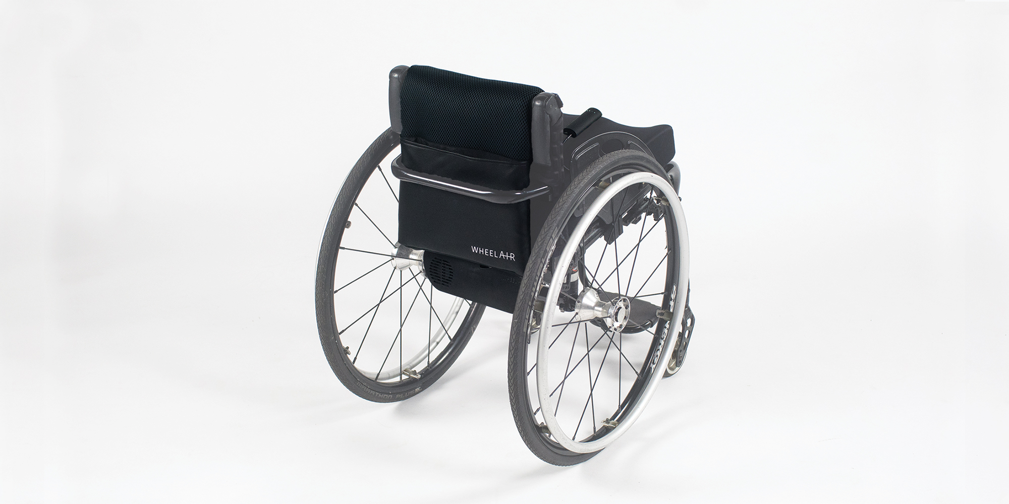 Product Shot of V1 on a Wheelchair - Back View