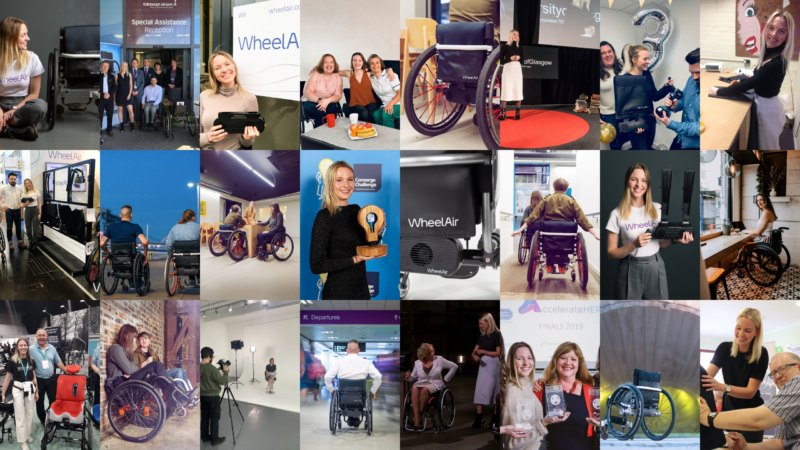 A collage of photos from WheelAir